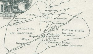 Barsetshire map by C.J. Alexander (1982).